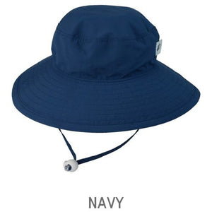 UPF 50+ Sun Protection-Puffin Gear Child Wide Brim Sunshine Hat-Made in Canada-Navy