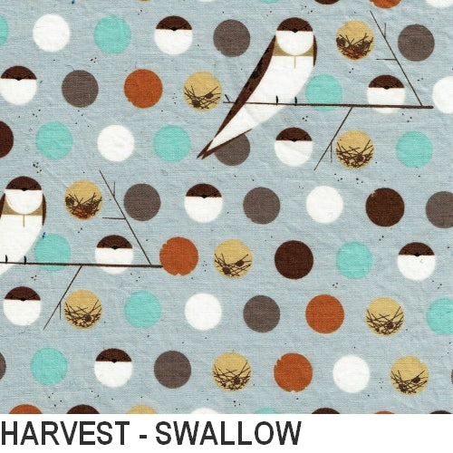 Puffin Gear Organic Cotton Poplin Harvest - Swallow - Made in Canada