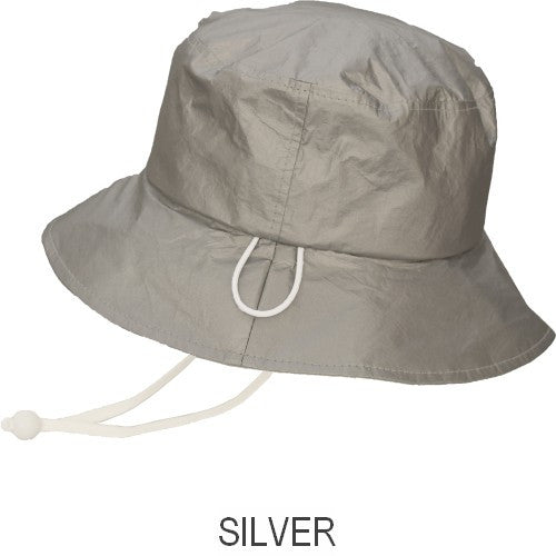 Puffin Gear® Tyvek® Adult Rain Hat - Silver - Made in Canada