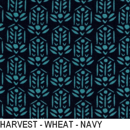 Puffin Gear Organic Cotton Double Gauze Harvest - Navy Wheat - Made in Canada