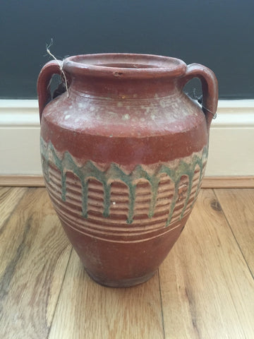 Small Terracotta Glazed Pot