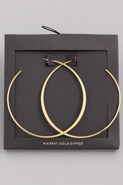 The Boujee Gold Hoops