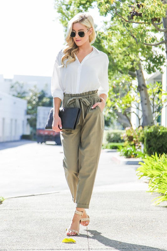 Olive Jumper Pants