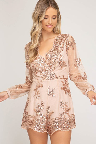 The Vegas Nights Sequin Romper