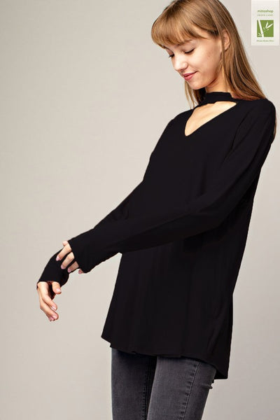 Mock Neck Basic Tunic