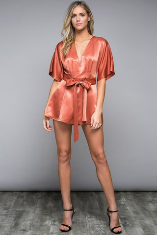 The Karina Satin Romper