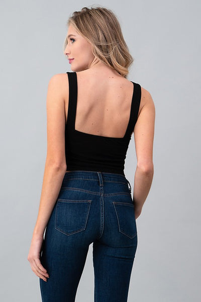 The Charlie Crop Top in Black