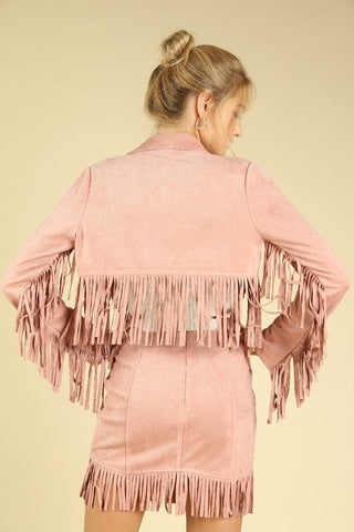 The Oakleigh Fringe Suede Jacket