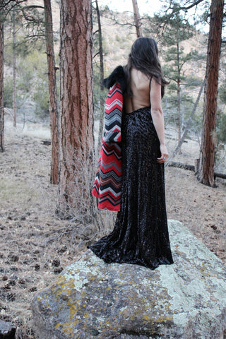 The Harlequin Sequin Maxi Dress