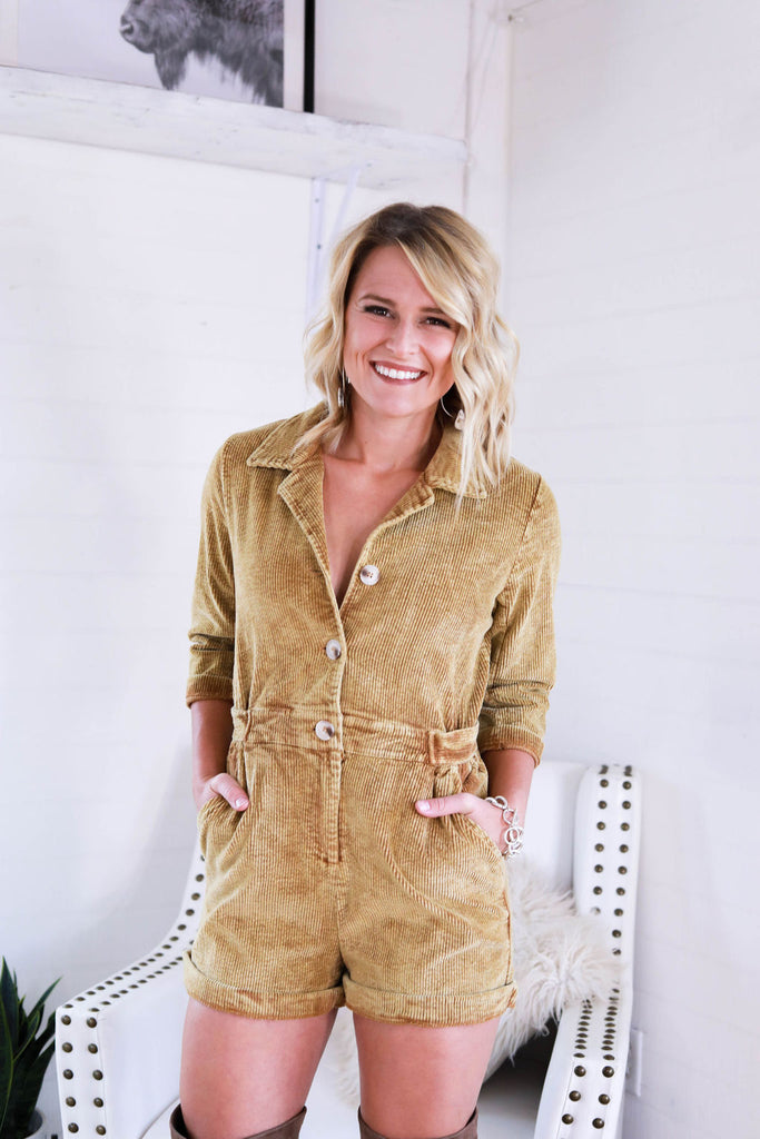 The Calee Corduroy Romper