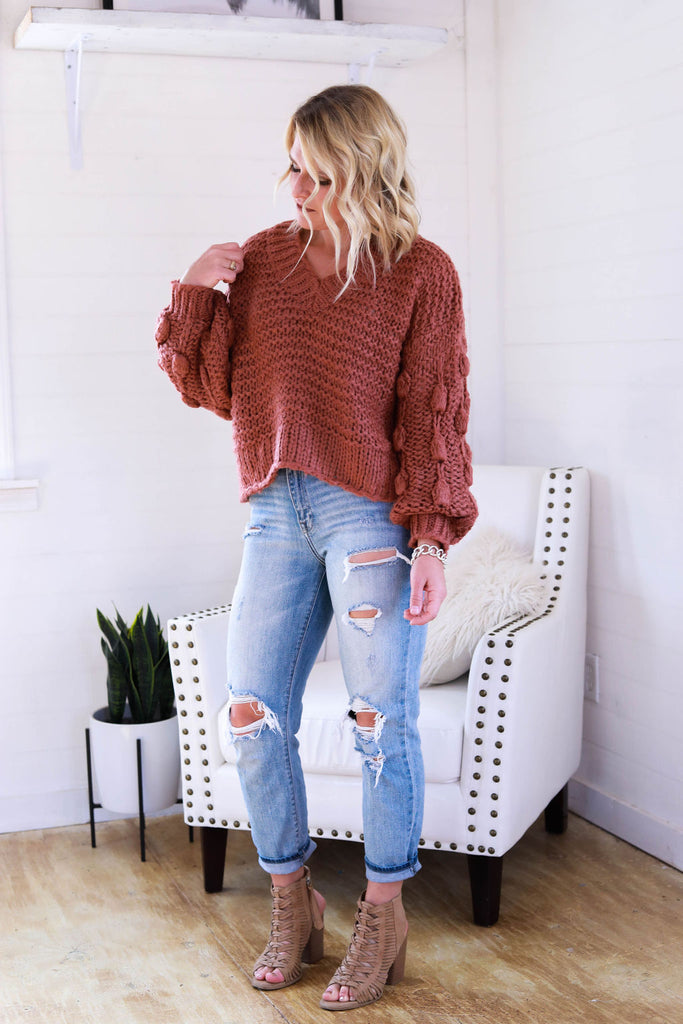 The Sophie Sweater in Rust