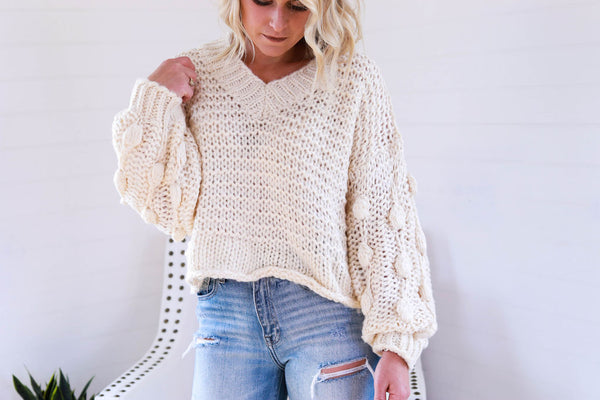 The Sophie Sweater in Cream