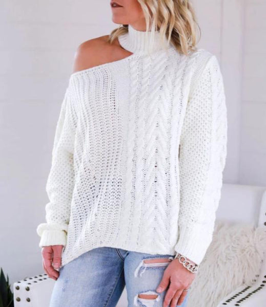 The Tess One Shoulder Sweater