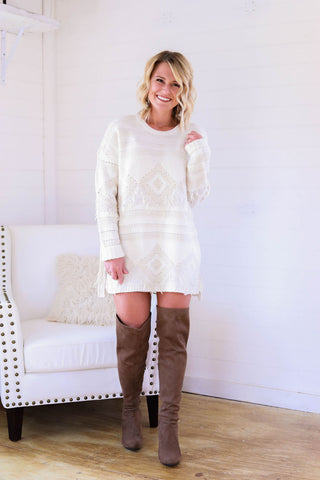 The MuMu Canyon Fringe Sweater