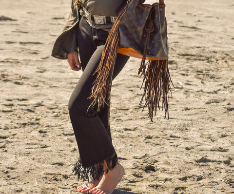 The Boho Chic Fringed Pant