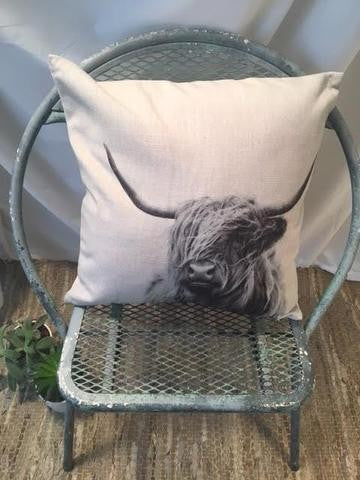 Highland Cow Pillow Cover