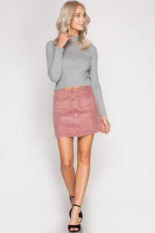 The Cory Corduroy Miniskirt