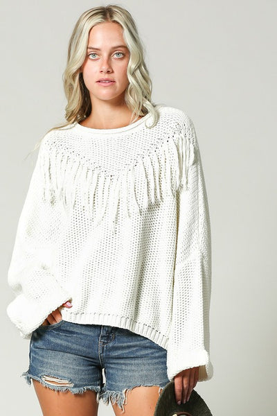 The Teiley Fringe Sweater