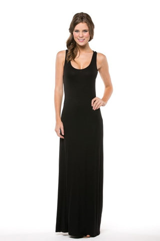 The Cara Basic Black Maxi