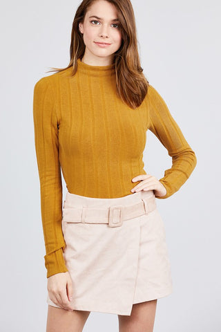 Golden Hour Mock Neck
