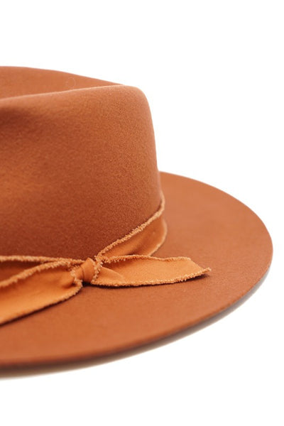 The Emerson Wool Gambler Hat in Rust
