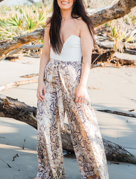 The Mya Beach Pant in Taupe