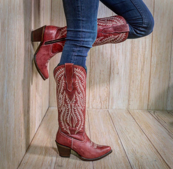 Tall Red Corral Boot - SIZE 9.5