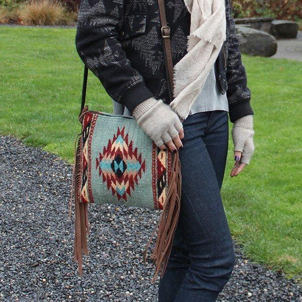 The Diamonds & Leather Fringe Bag