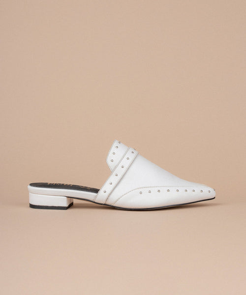 The Tisha Mule in White