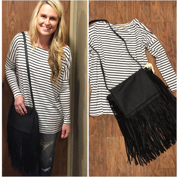 Fringe Messenger Bag