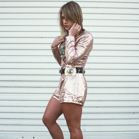 The Cosmopolitan Sequin Romper