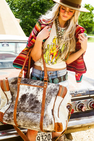The Traveler Cowhide Duffle