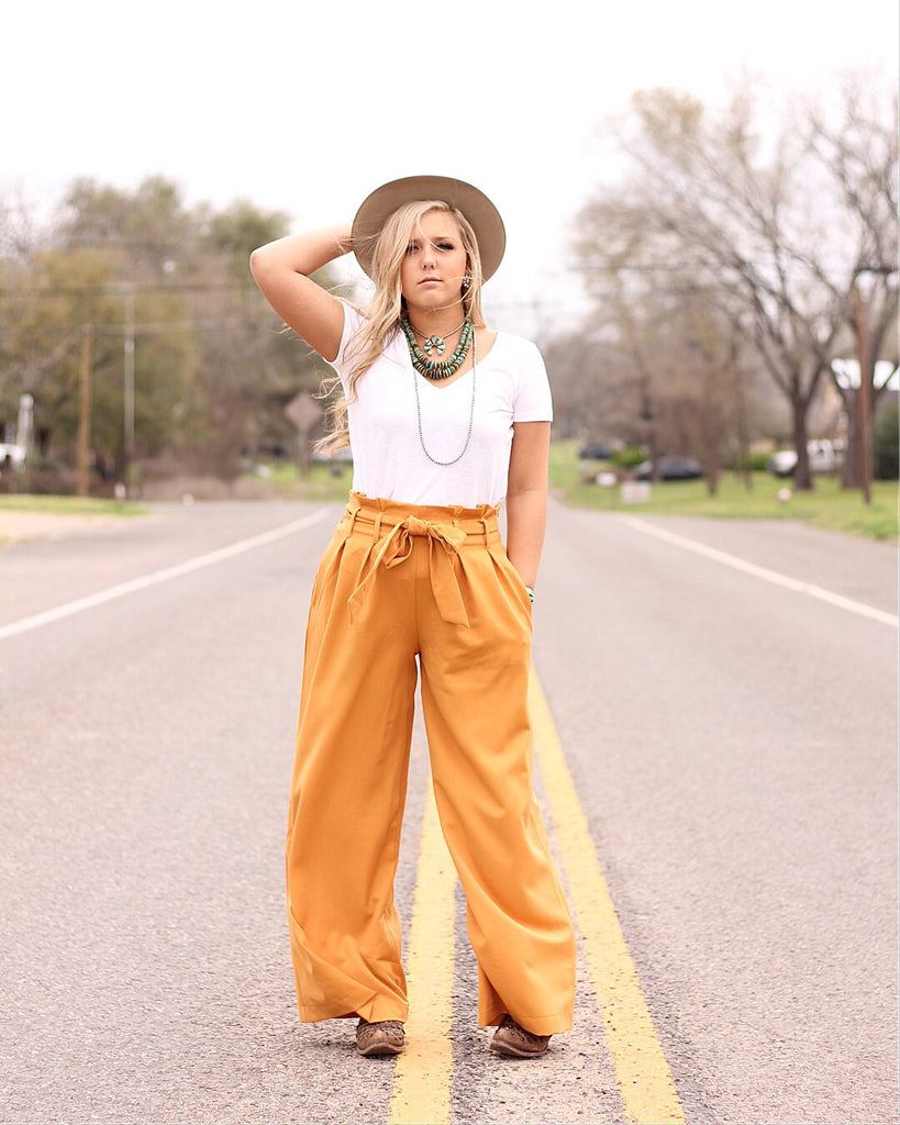 Highwaisted Mustard Pants