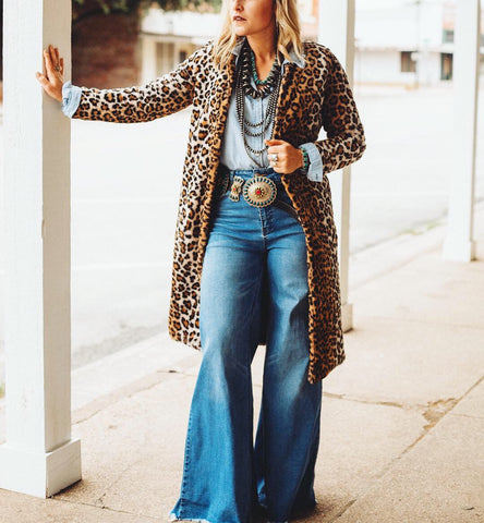The Jade Leopard Long Coat