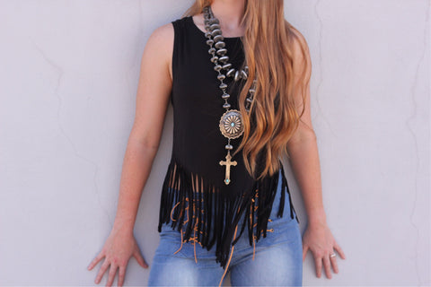 The Pearl Fringe Top