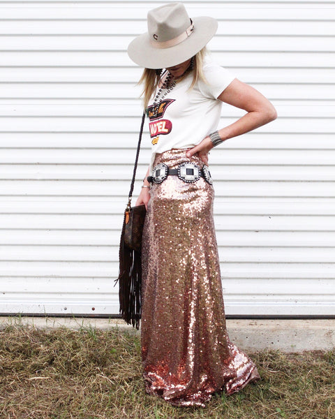 South Point Stakes Sequin Skirt