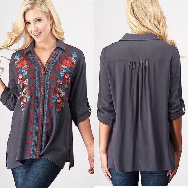 The Harper Embroidered Top