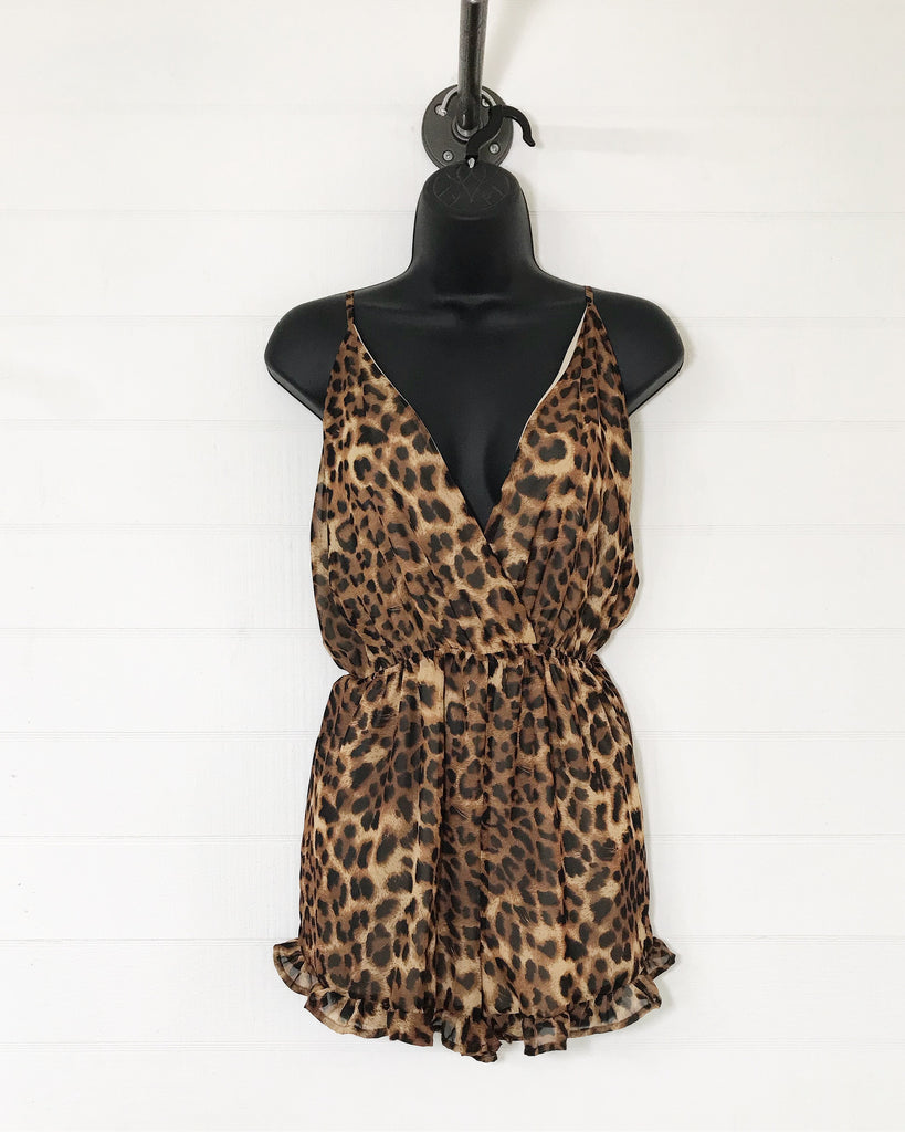 The Sage Cheetah Romper