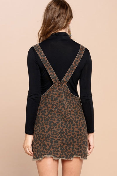 The Everett Leopard Overall Dress