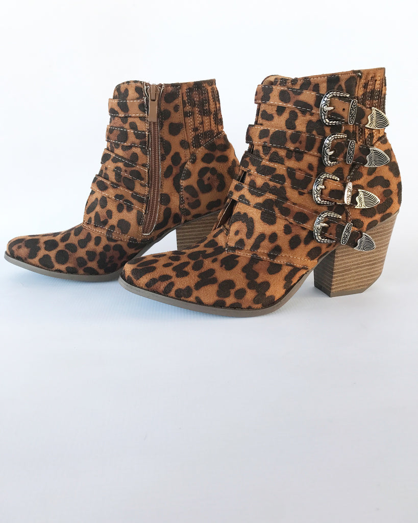 The Carrie Cheetah Booties