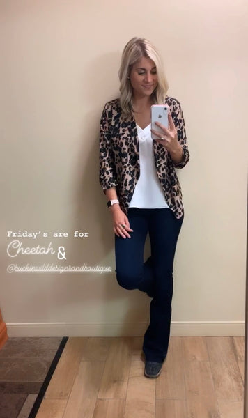 The Shaynee Leopard Blazer