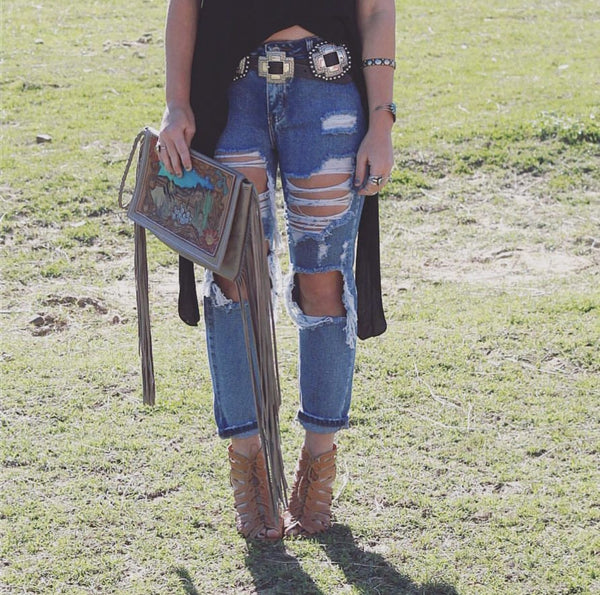 Ultra Distressed BOho Crops