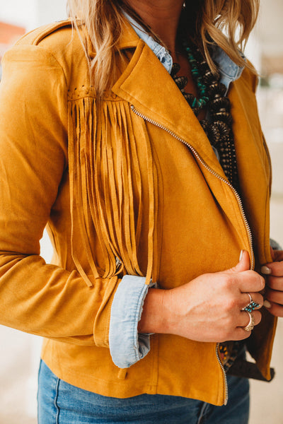 The Gabby Fringe Jacket