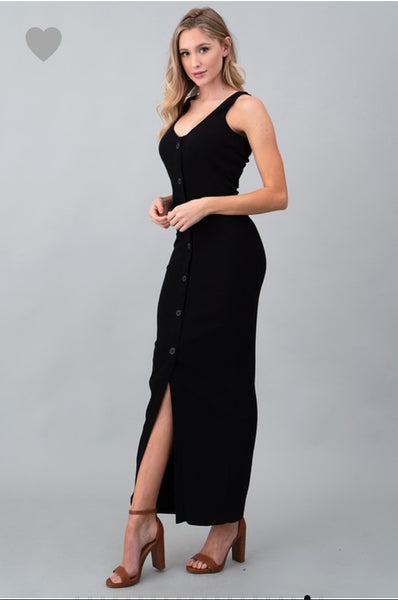 The Finley Basic Fall Dress in Black