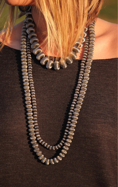 The Stevie Corrugated Pearl 2 Strand Necklace