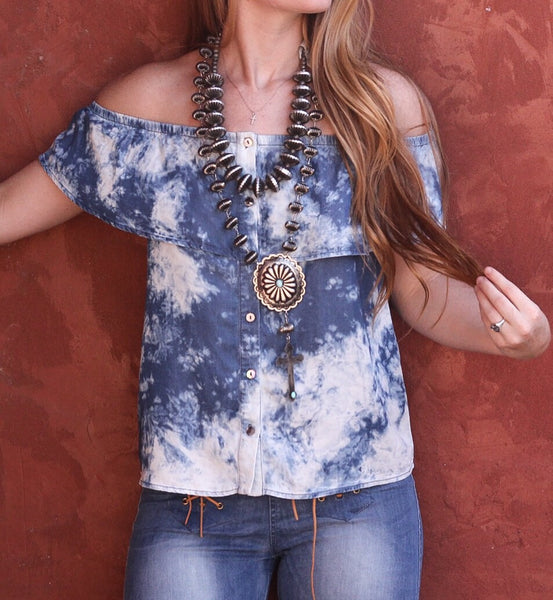 The Faith Acid Wash Top