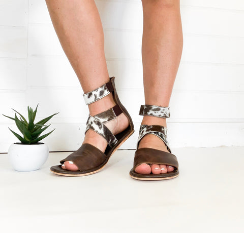 The Aspen Cowhide Sandals