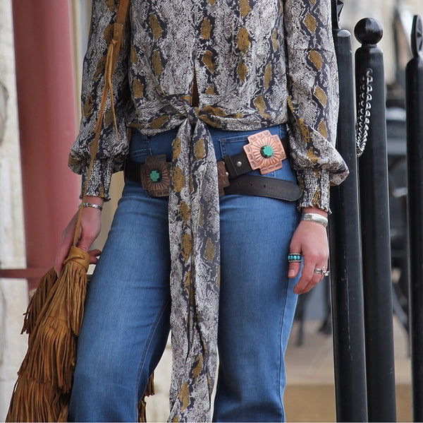The Jasper - Copper and Turquoise Belt