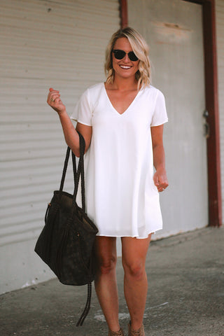 The Tawny Minidress in White