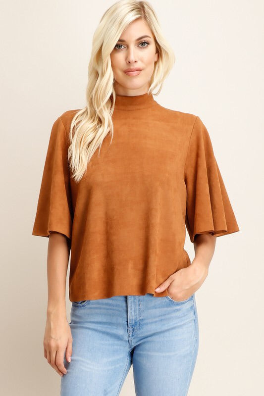 The Blakely Suede Top